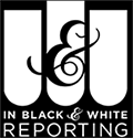 in black and white logo